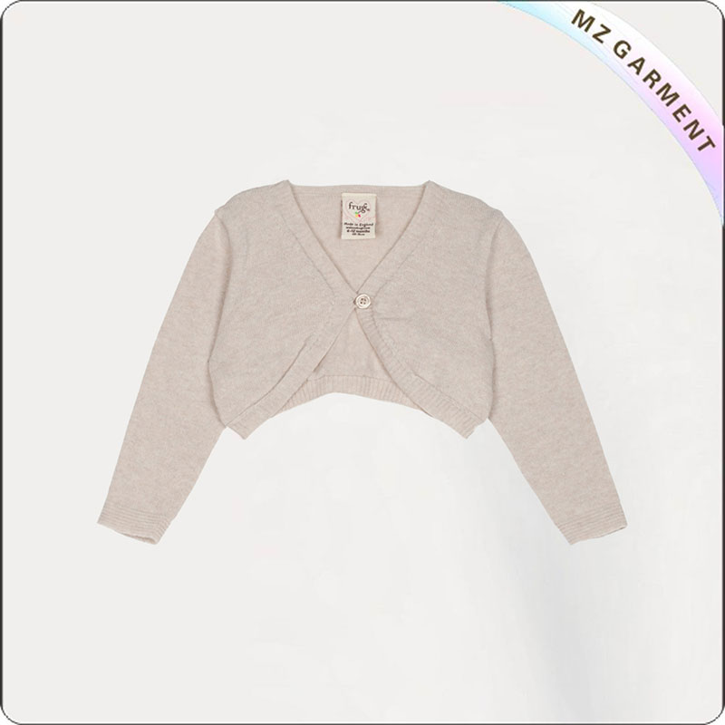Baby Oyster White Crop Cardigan