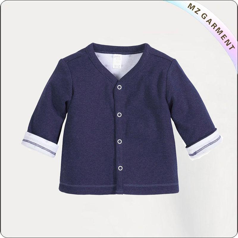Boy Aubergine Knit Jacket