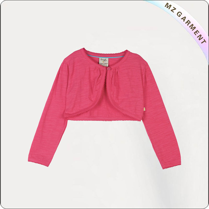 Girls Aurora Red Cardigan