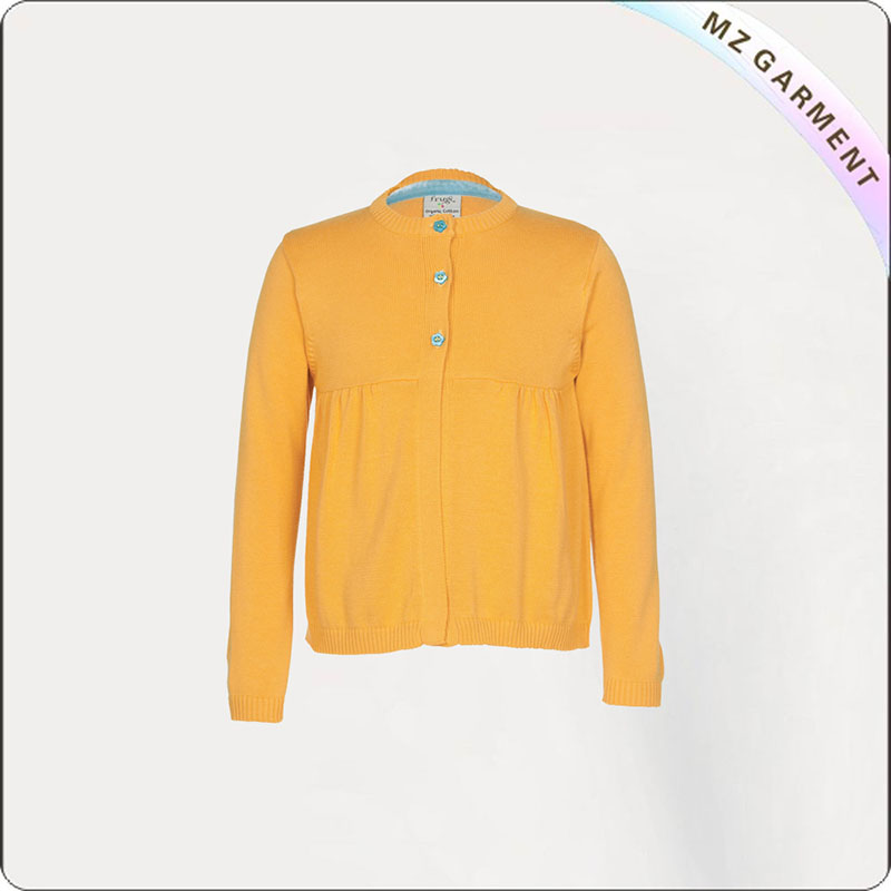 Girls Citrine Knitted Coat