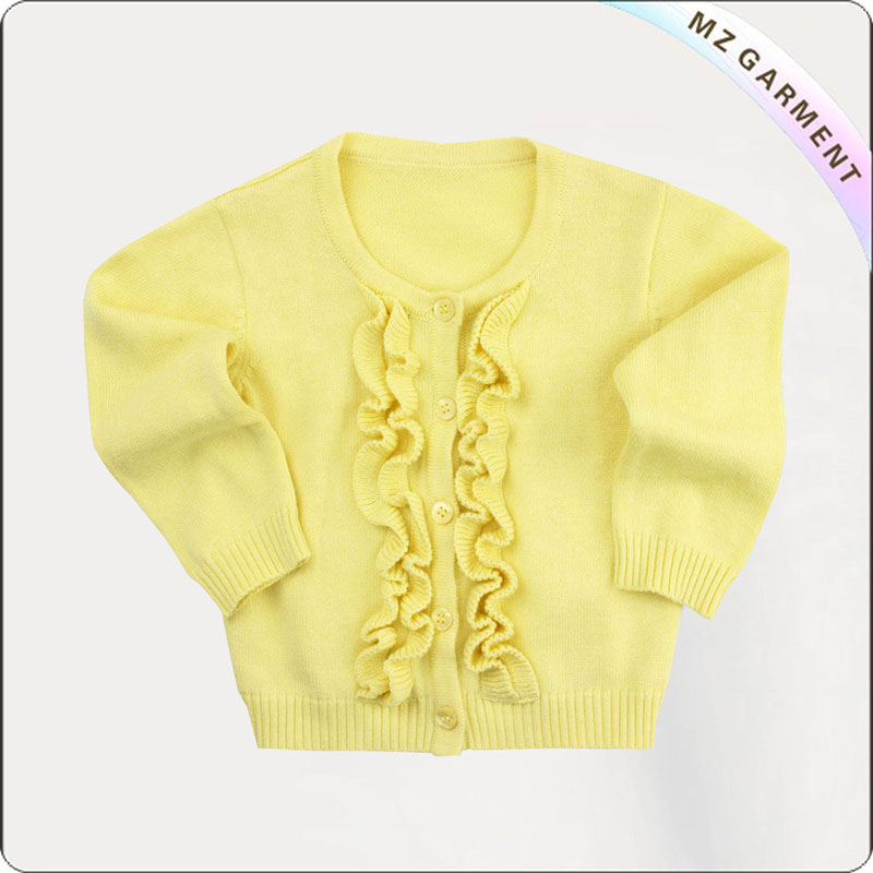 Girls Creamy Yellow Cardigan
