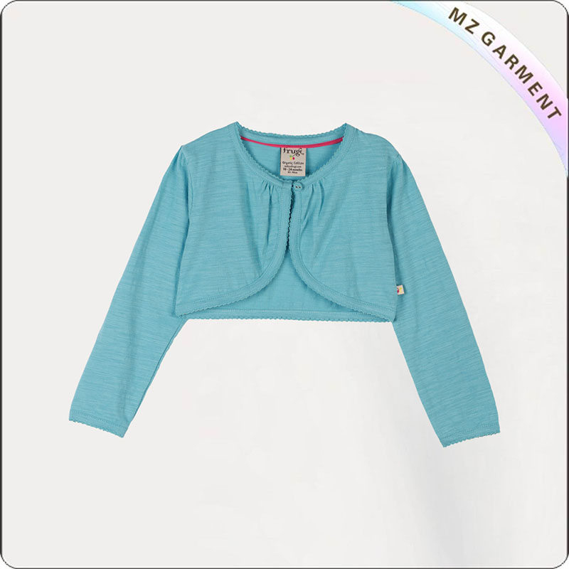 Girls Crop Knitted Jacket