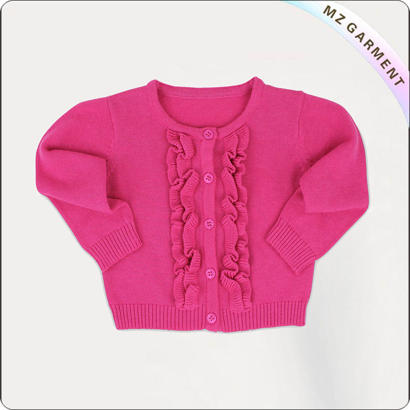 Girls' Ruffle Cardigan