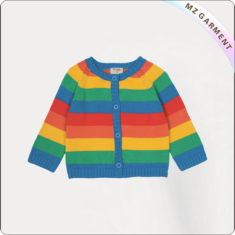 Girls Stripe Jersey Cardis