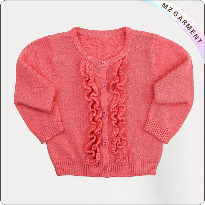 Kids Peachy Knitted Coat
