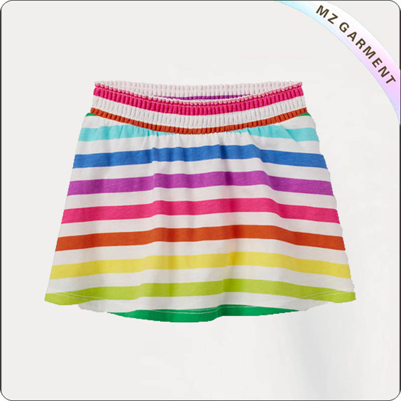 Girls Elastic Waistband Skort