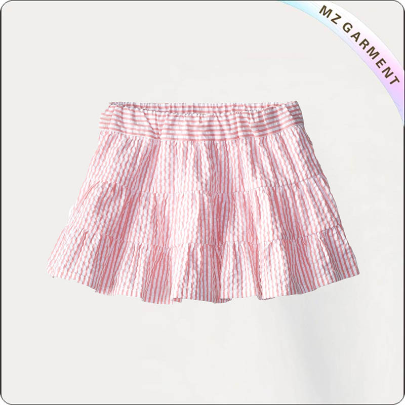 Kids Candy Stripe Pleated Skort