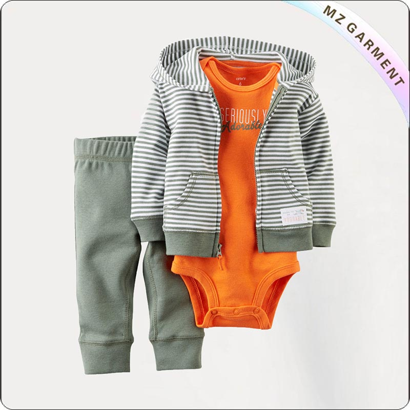 Boys 3 Piece Stripe Sport Suit