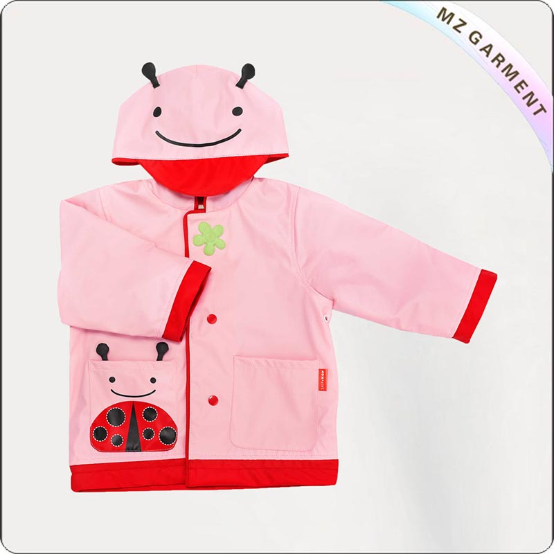 Girls Hooded Warm Up Coat