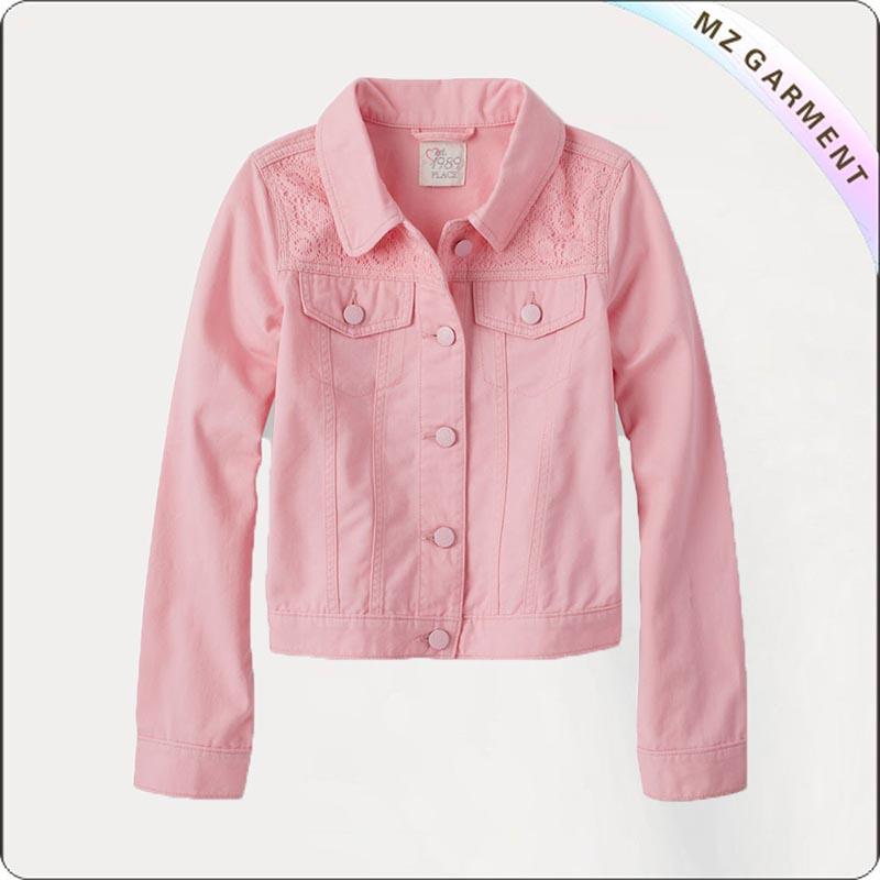 Girls Shoulder Lace Jacket
