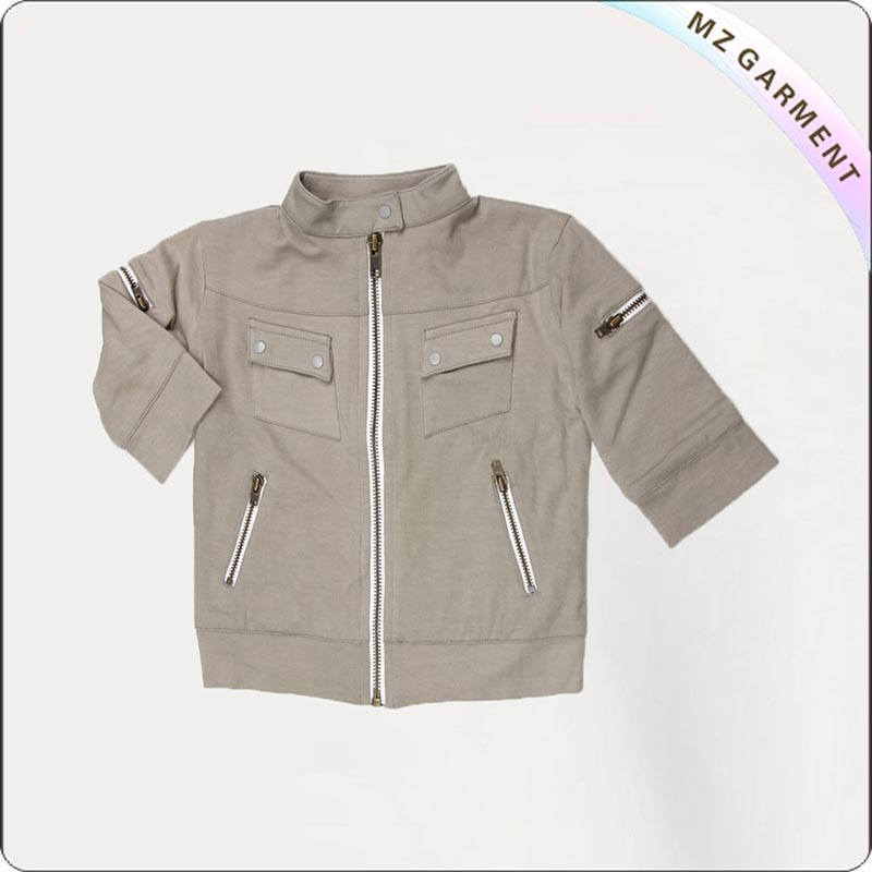 Kids Camel Bomber Jacket
