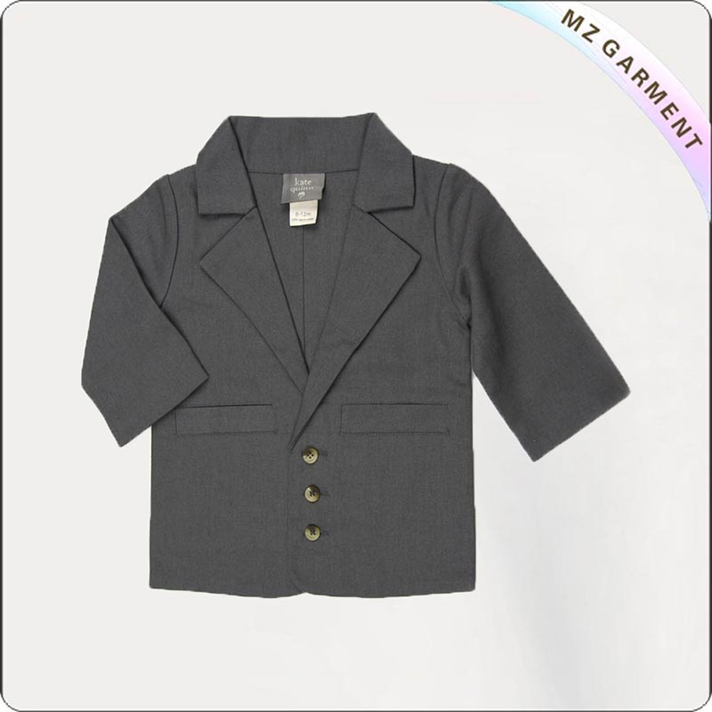 Kids Grey Suit Jacket