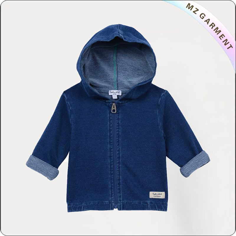 Kids Navy Denim Jacket