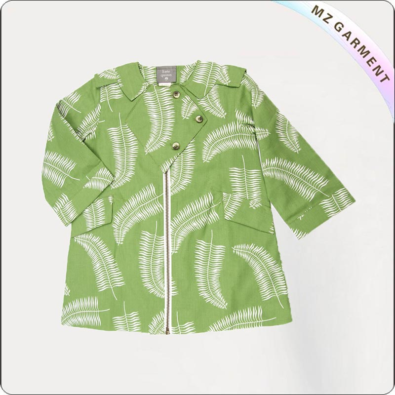 Kids Paradise Green Coat