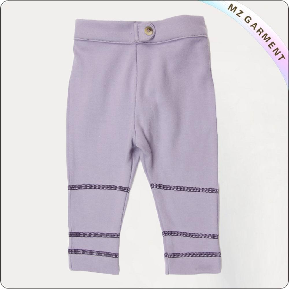 Girls Lavender Knee Legging