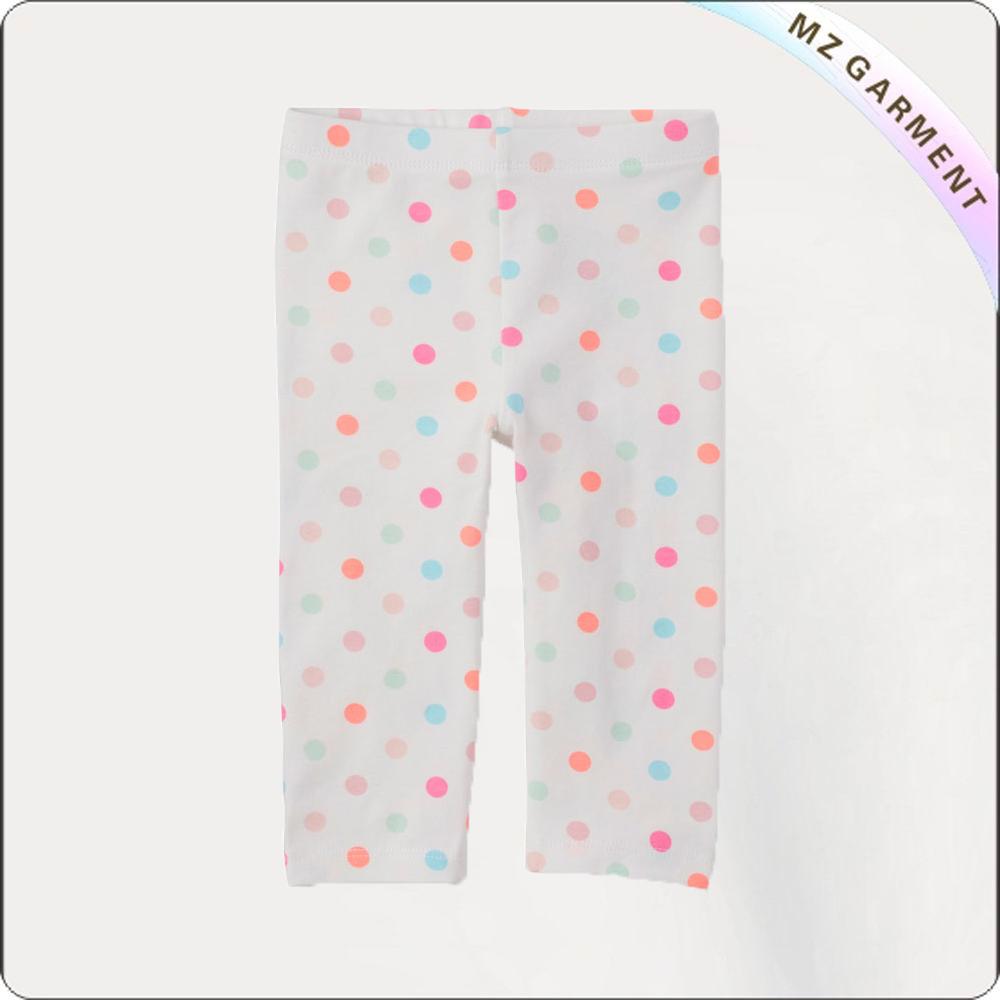 Girls Polka Dots Short Legging
