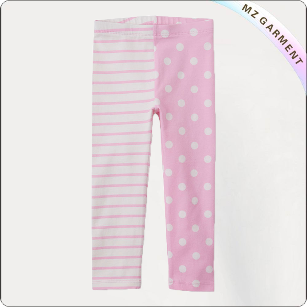 Girls Stripe & Polka Dot Skinny Pants