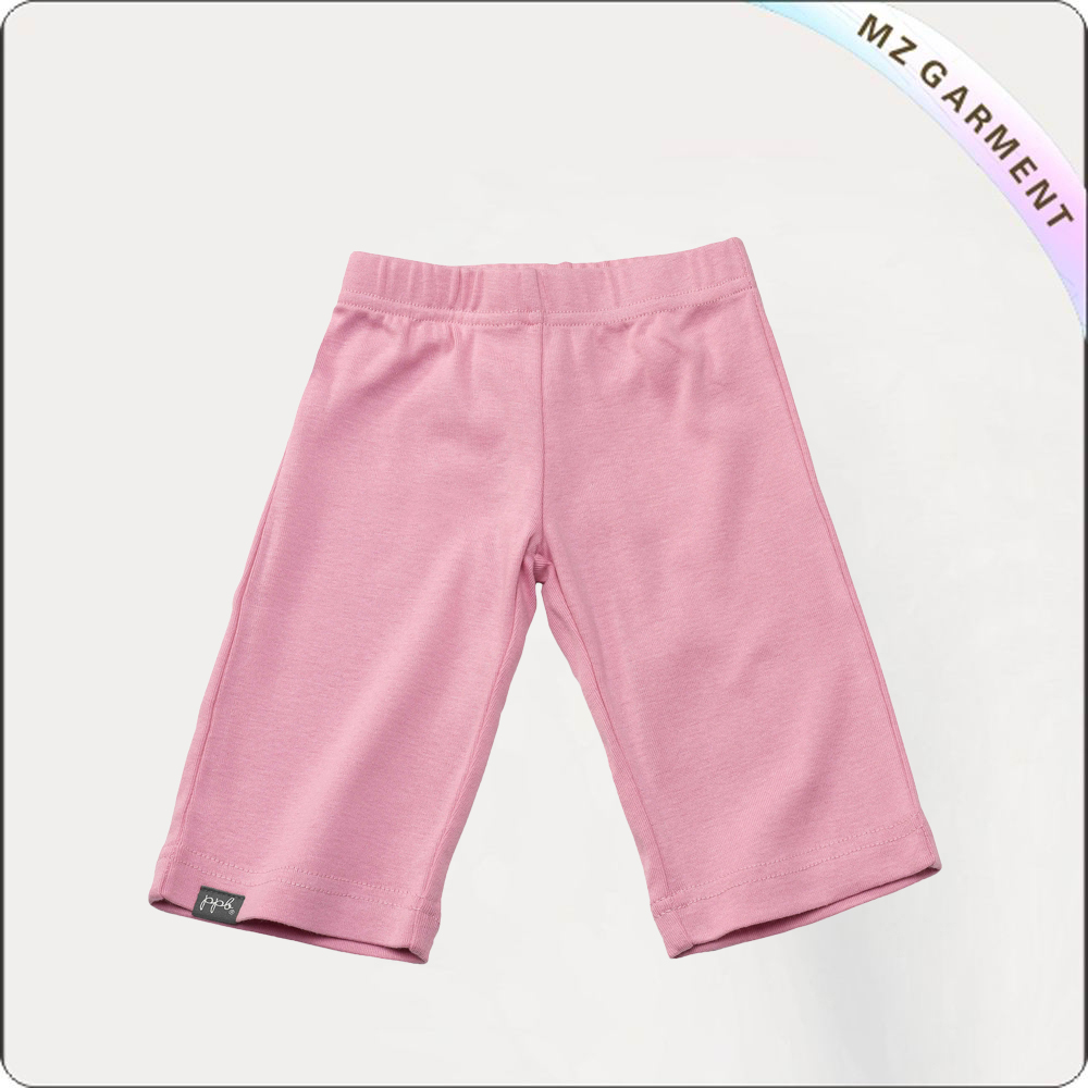 Girls Peach Knee Pants