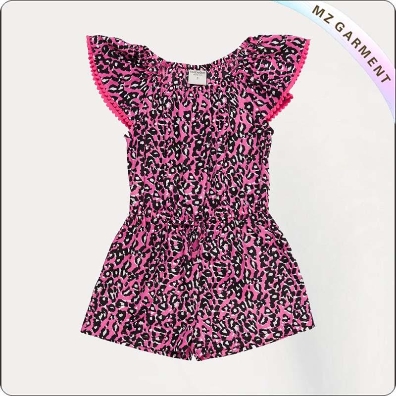 Girls Leopard Snapsuit