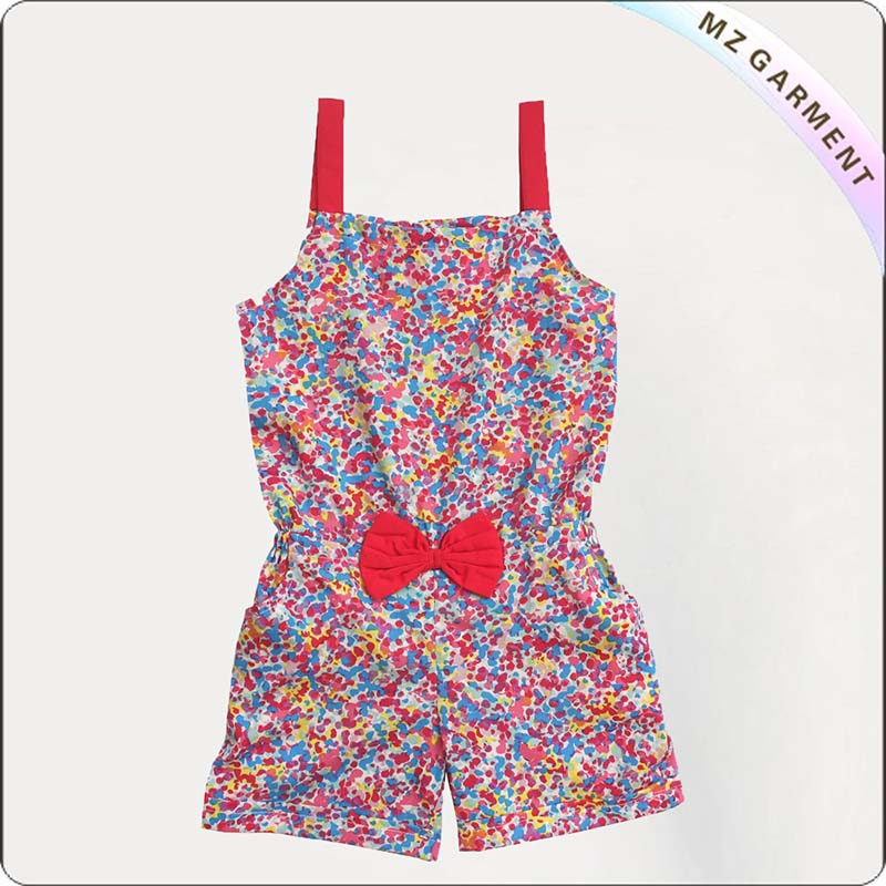 Girls Minutiae Print Snapsuit