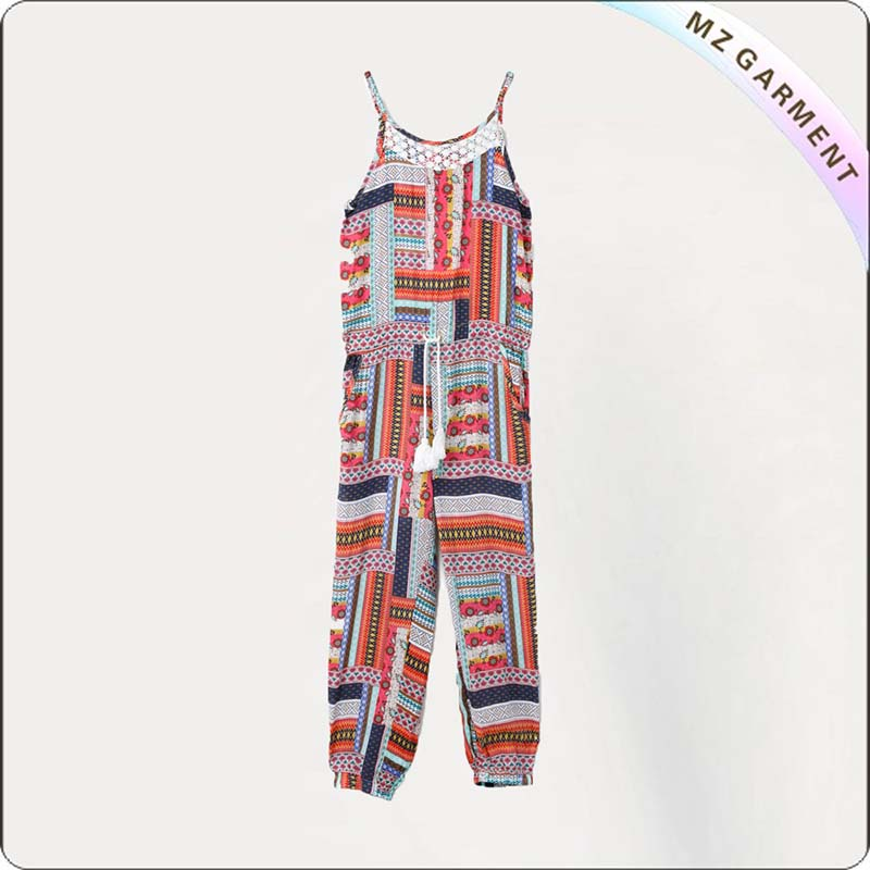 Girls Patchwork Print Snapsuit