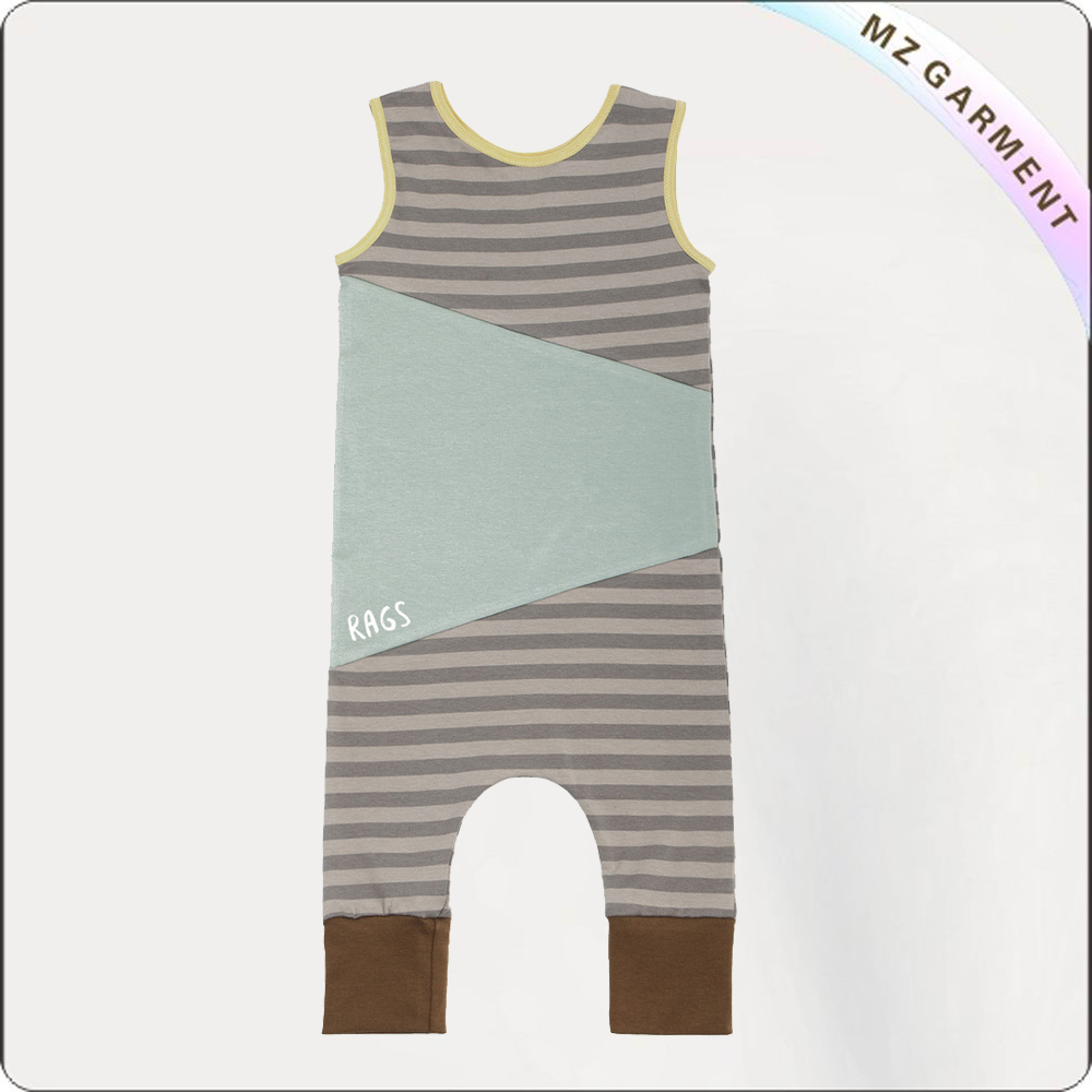 Boys Color Blocking Snapsuit
