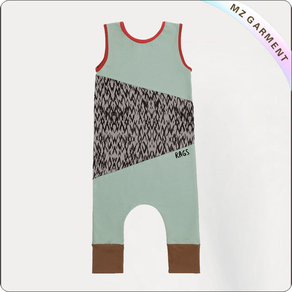 Boys Silt Green Snapsuit