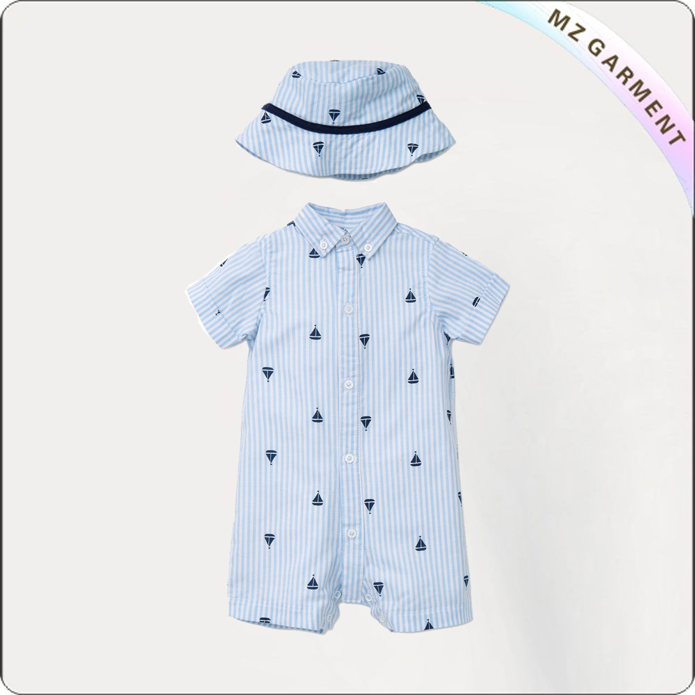 Kids Candy Stripe Snapsuit