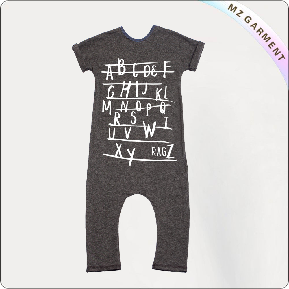 Kids Dark Grey Romper