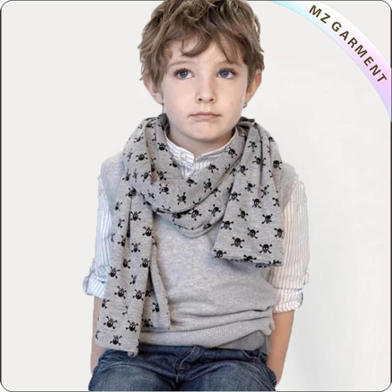 Boys Pirate Skull Shawl