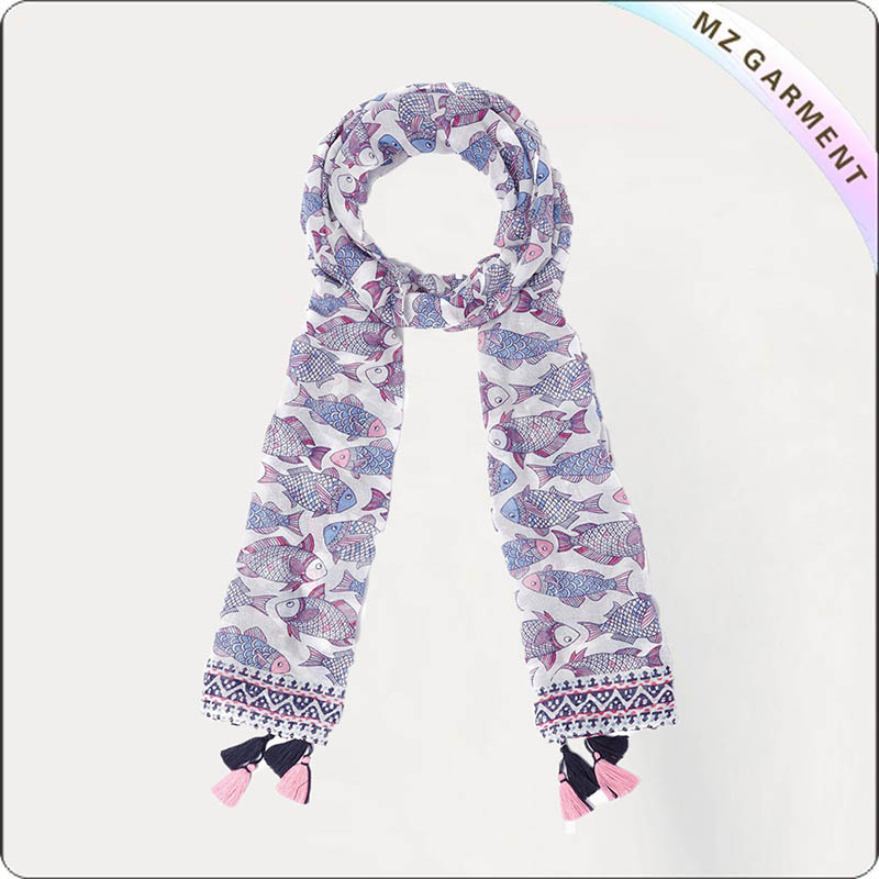 Girls Fish Scarf