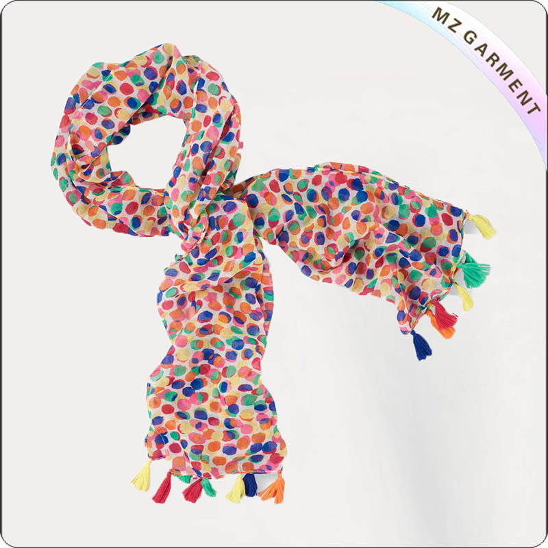 Girls Polka Dots Scarf