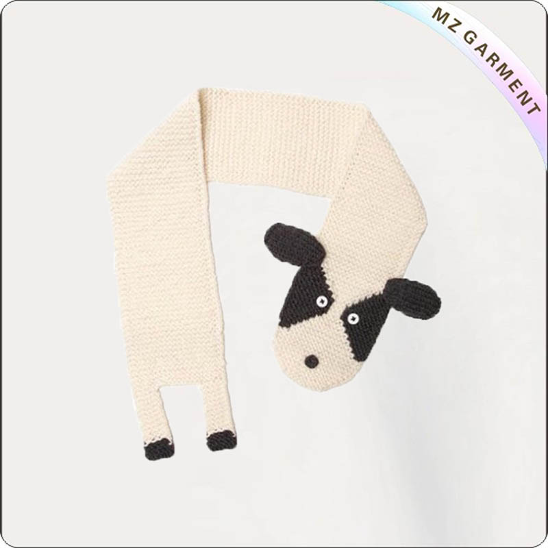 Kids Ivory Dog Scarves