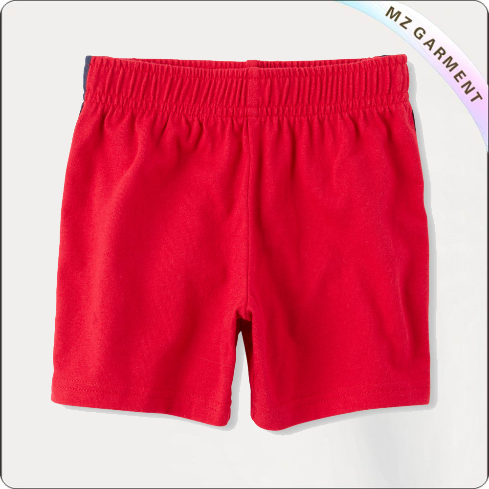 Boys Scarlet Bermuda Shorts