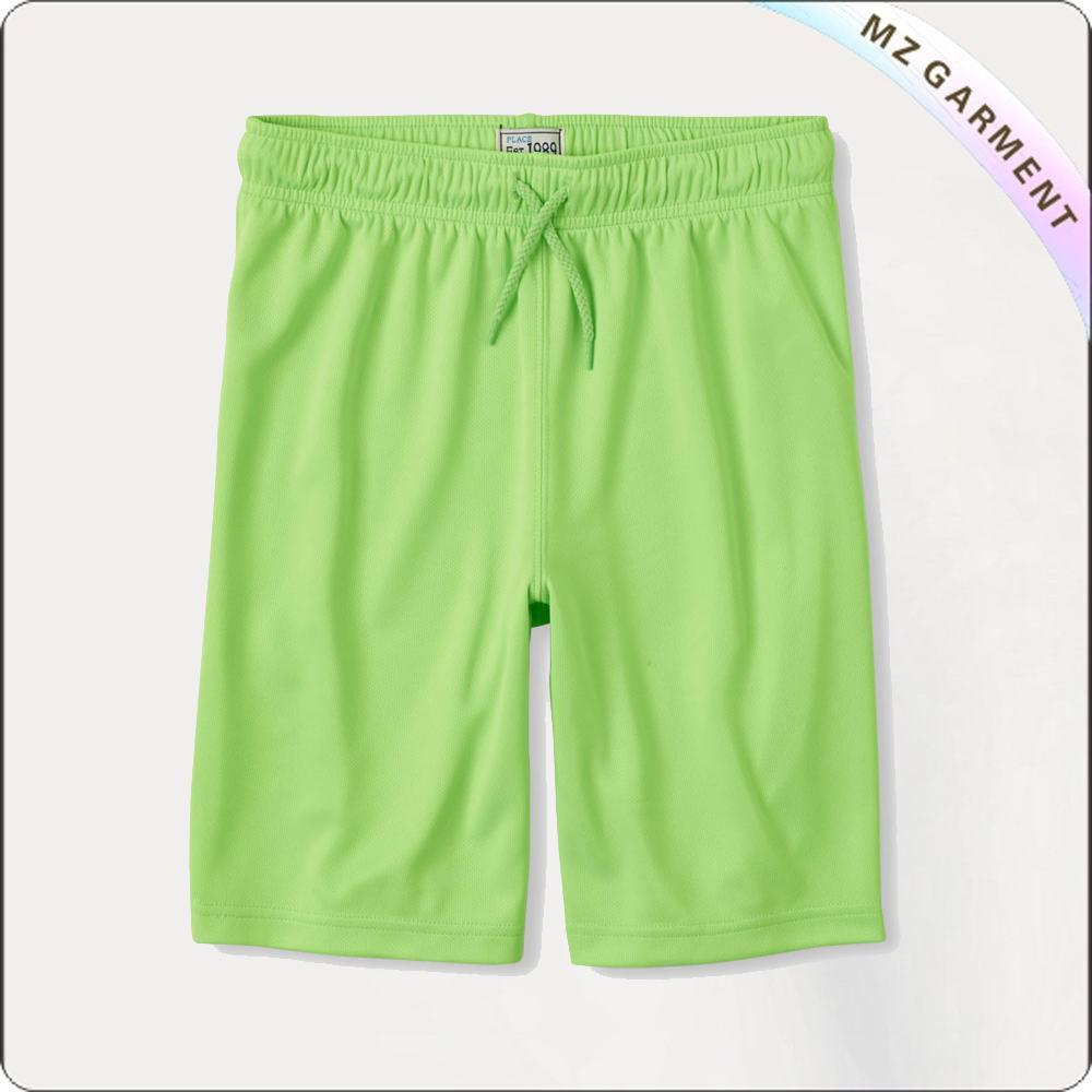 Girls Apple Green Midi Shorts