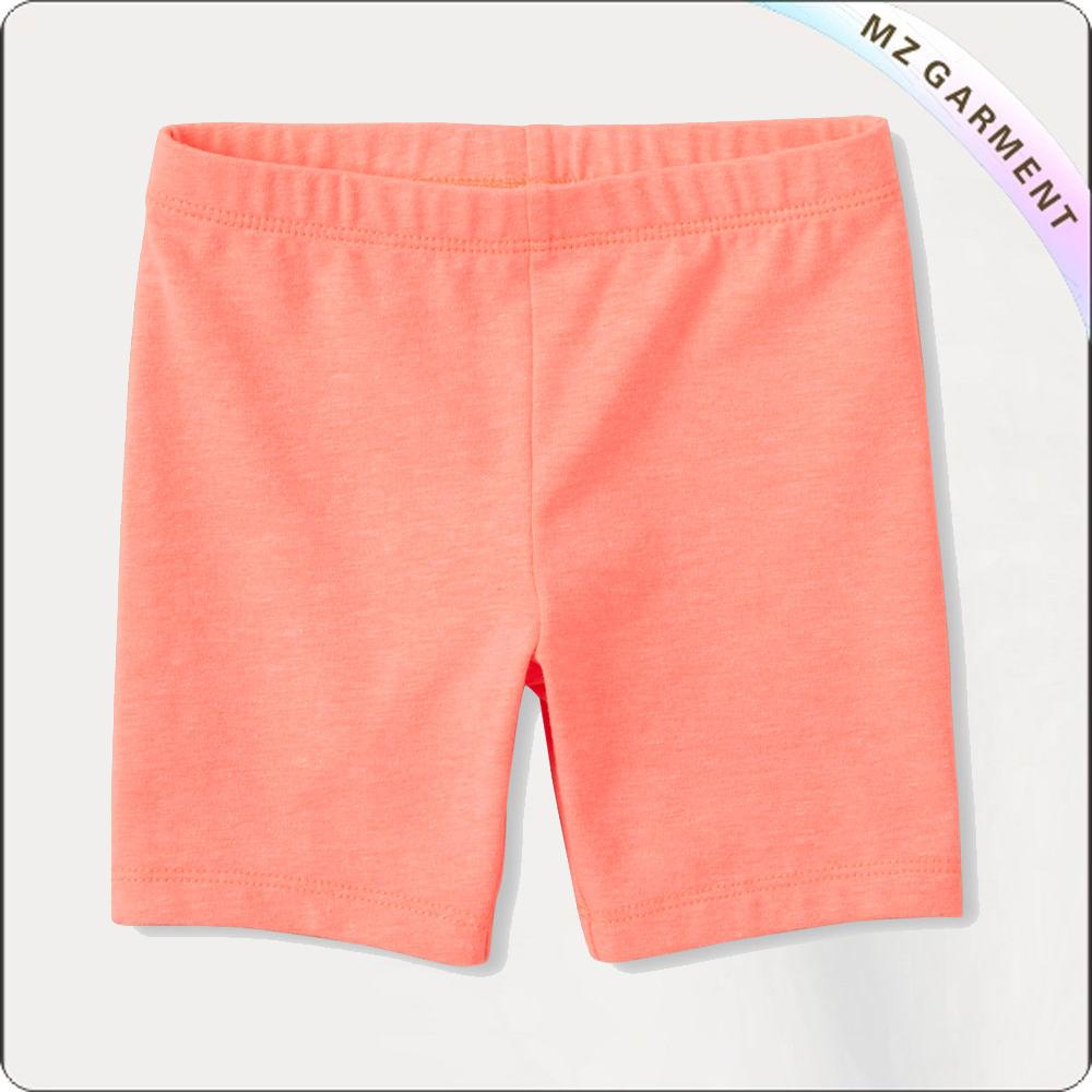 Girls Apricot Short Pants