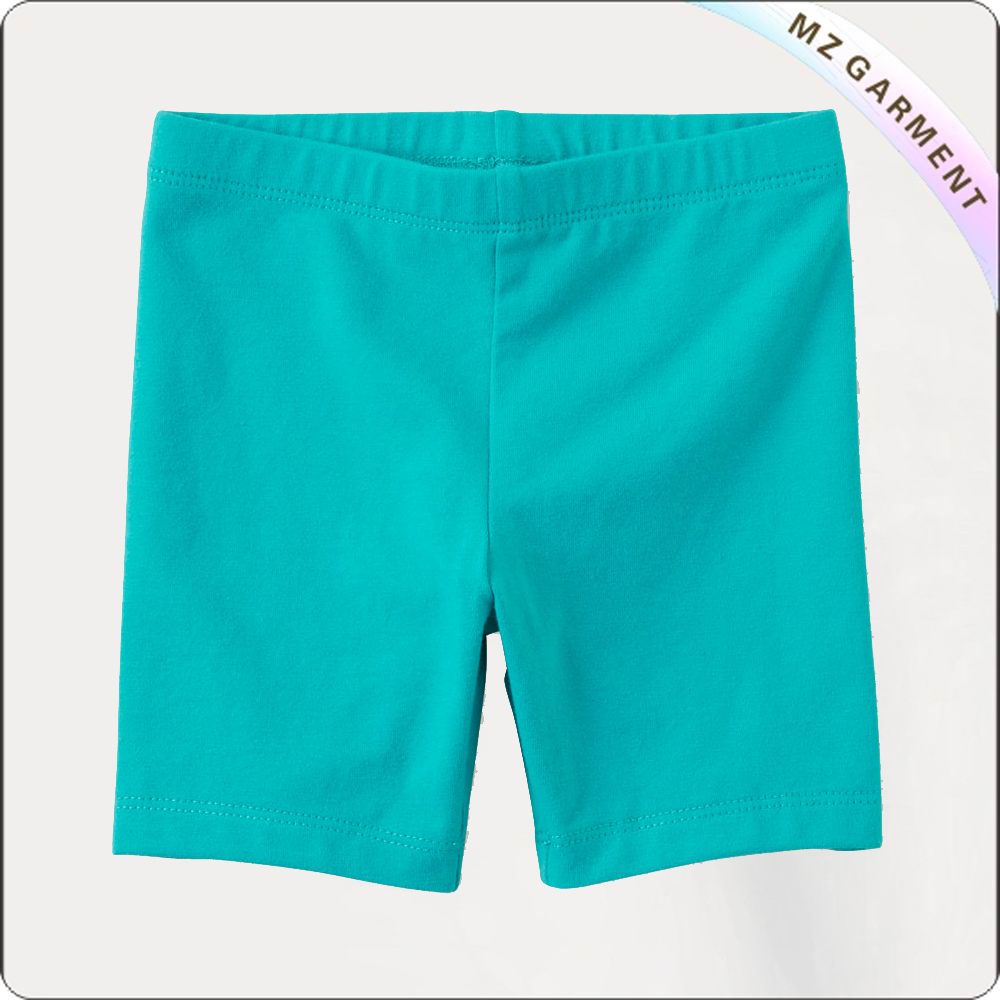 Girls Aquamarine Blue Midi Shorts