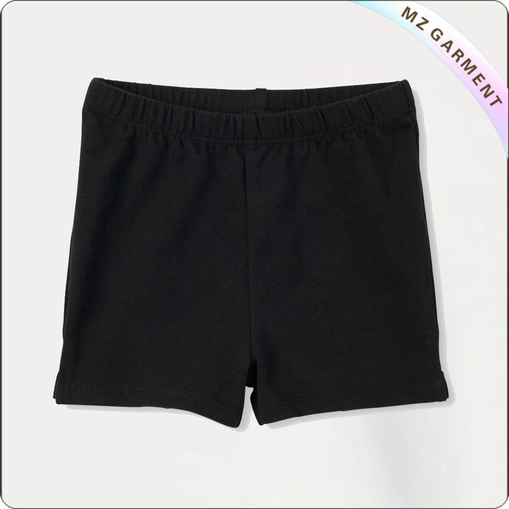 Girls Black Short Pants