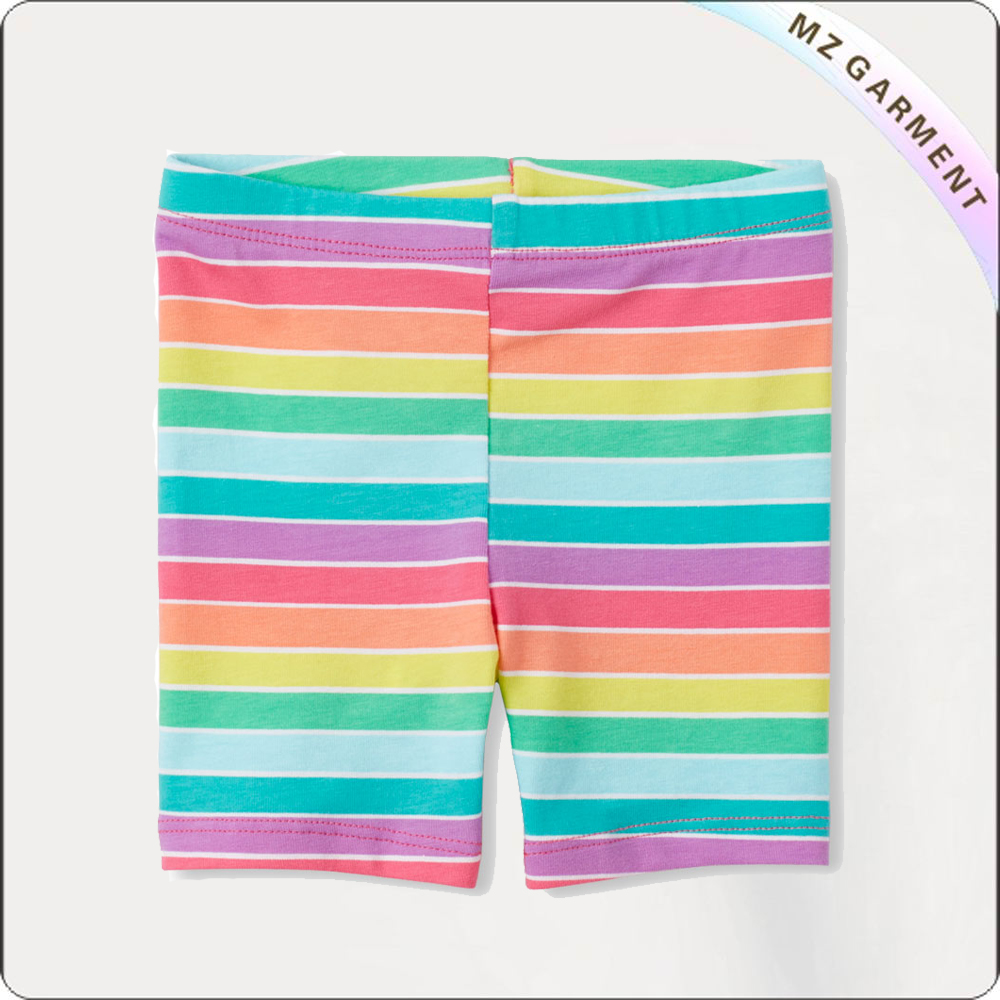 Girls Rainbowing Short Leggings