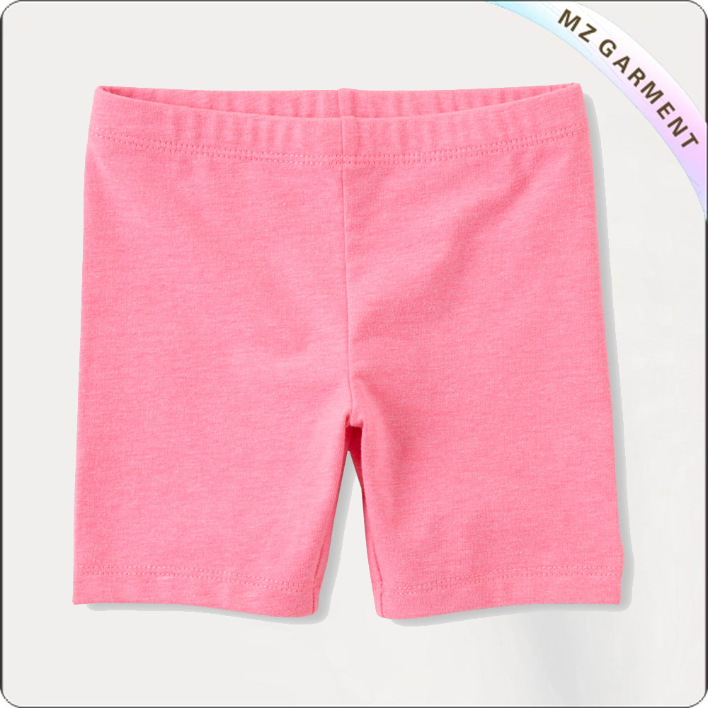 Girls Rose Pink Midi Shorts