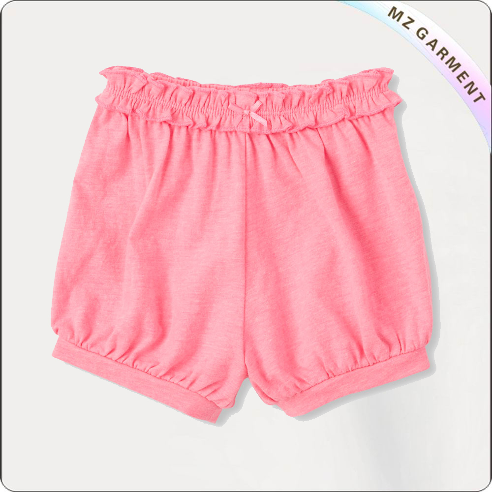 Girls Ruffle Waistband Shorts