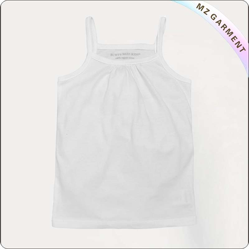 Girls Ash White Tank Top