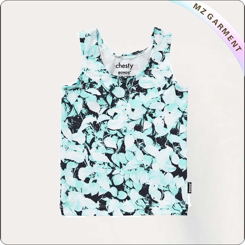 Girls Foliage Design Undershirt
