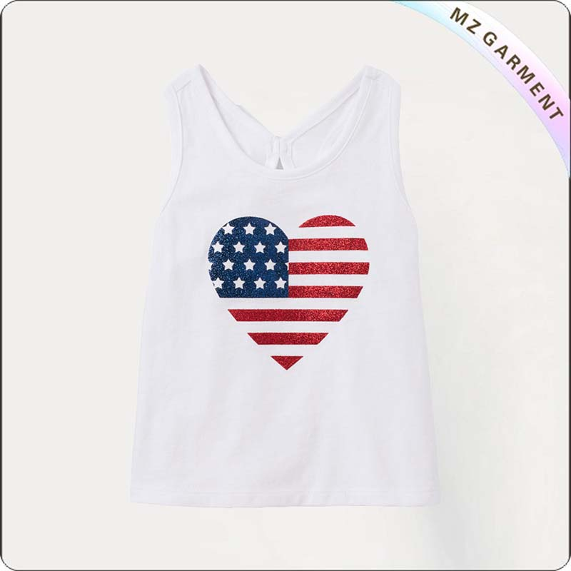 Girls Heart Singlet