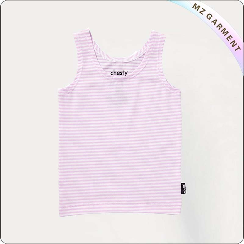 Girls Lila Fine Stripe Singlet