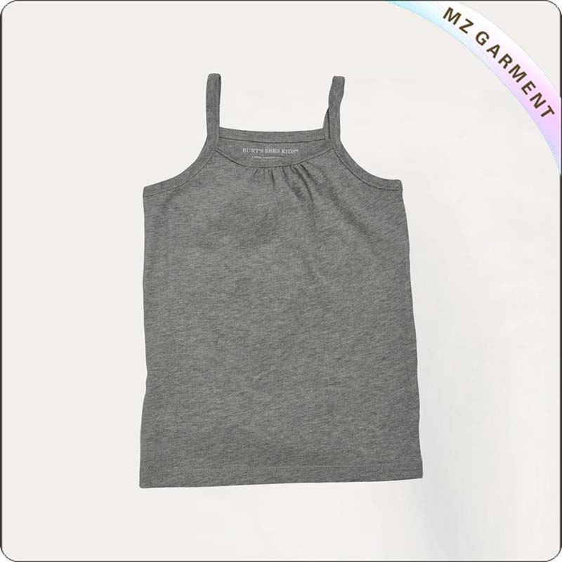 Girls Neutral Gray Singlet