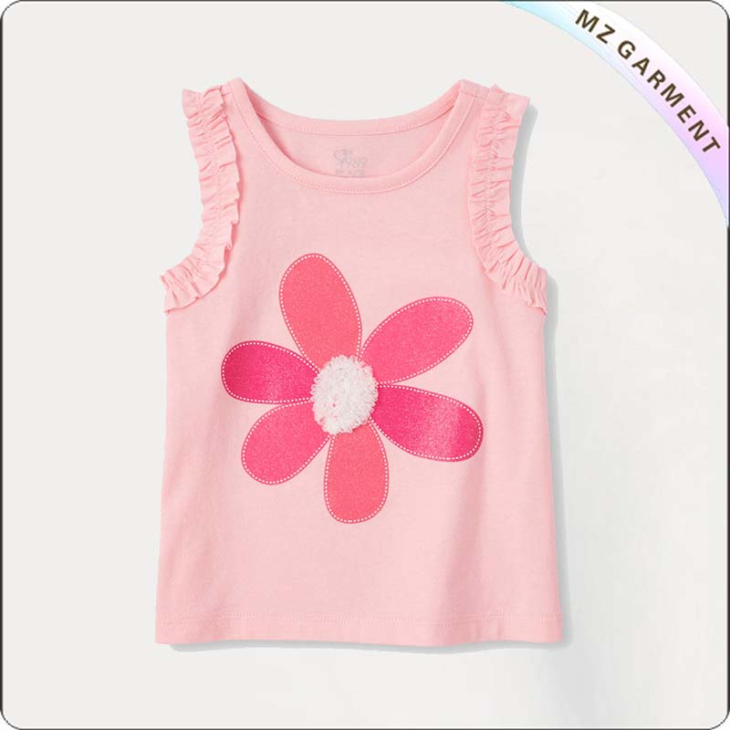 Girls One Flower Tank Top
