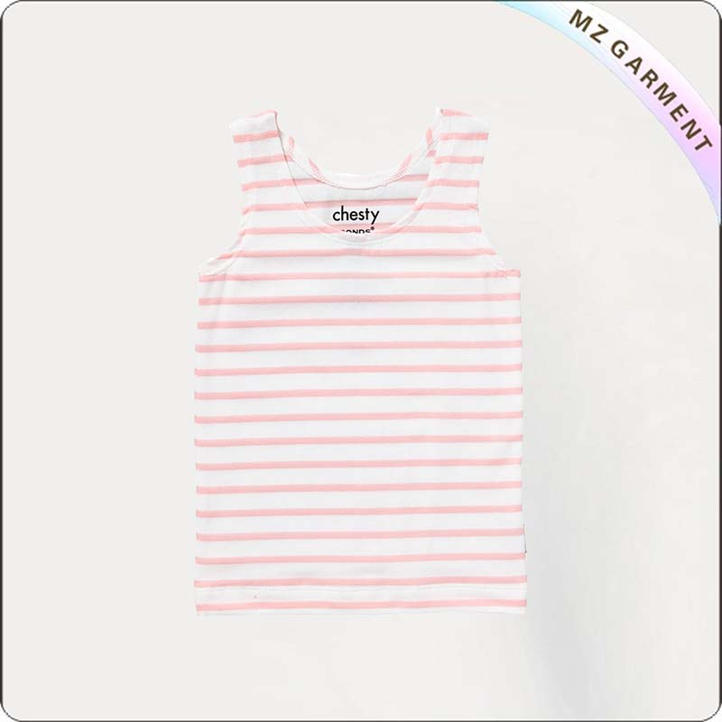 Girls Pink Stripe Undershirt