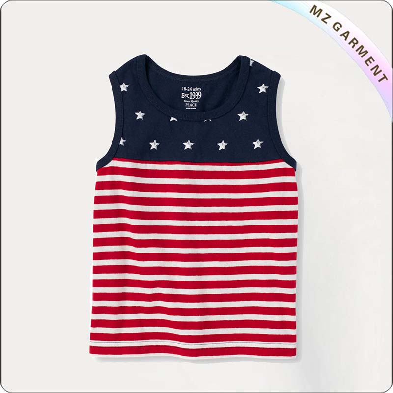 Girls Star & Stripe Singlet