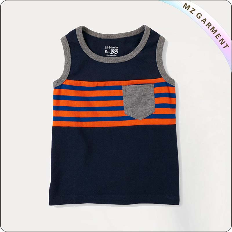 Kids Navy Tank Top